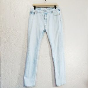 RE/DONE Levi's  Light Wash High Rise Jeans 33